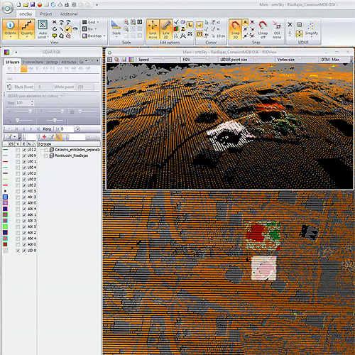 logiciel de photogrammétrie, traitement de nuage de points