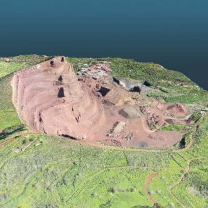 topographie de mines et de carrières au moyen de drones et de scanner laser